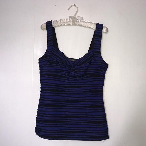 💋Blue & Black Stripe Suzy Shier Tank Top💋